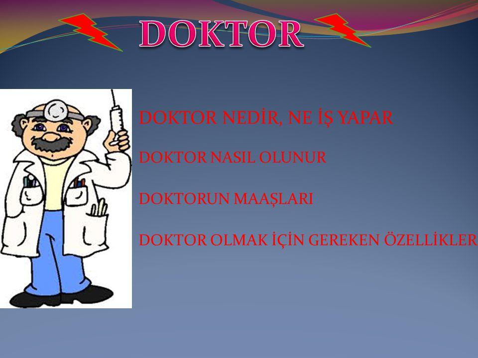 Latince öğretmen kelimesinden gelen doktor kelimesi akademik unvan olarak doktora sahibi kişiye verilen addır.