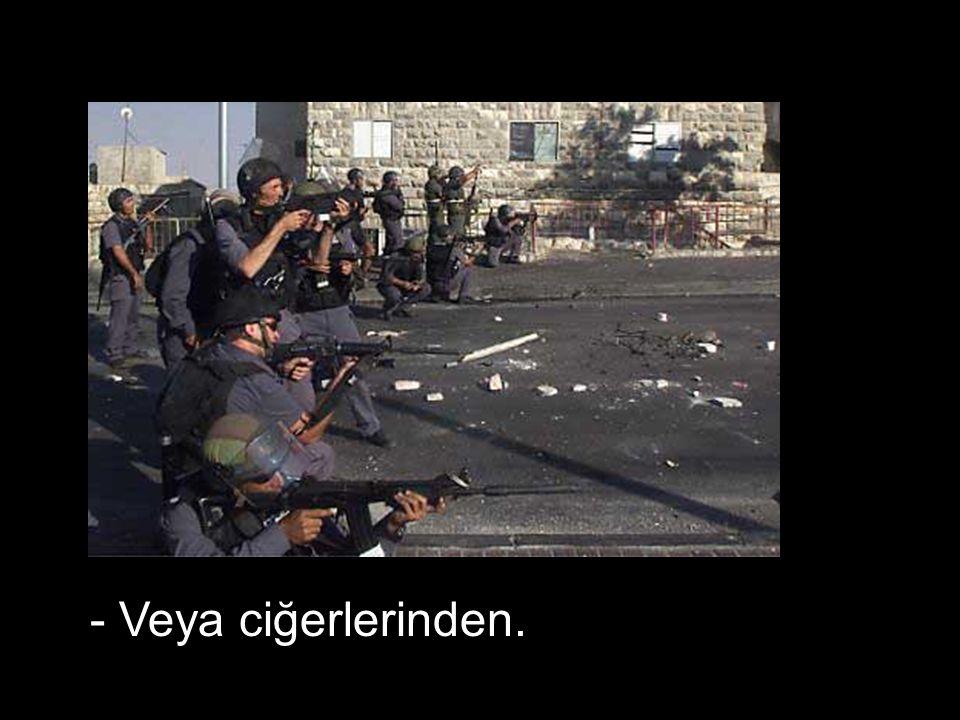 - Beyinlerinden vuracağız…..