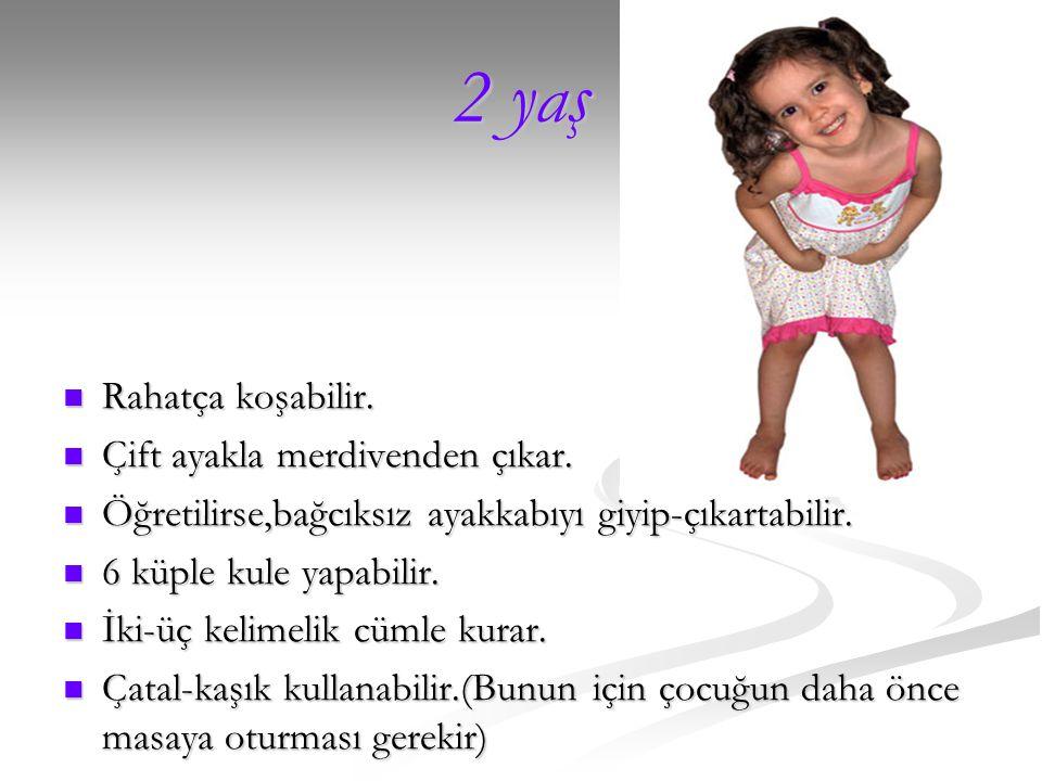 18.ay 18.ay Yavaş yavaş konuşmaya başlar.(Kız çocuklarında daha erken gerçekleşir) Yavaş yavaş konuşmaya başlar.(Kız çocuklarında daha erken gerçekleş