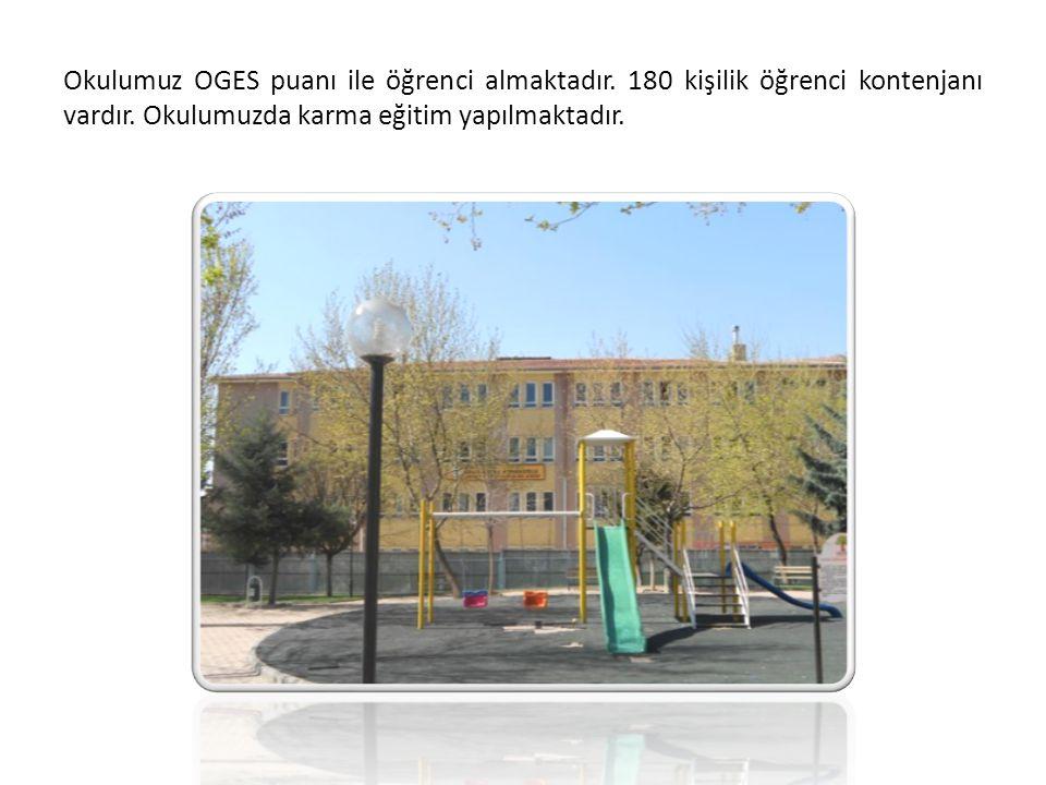 Okulumuz OGES puanı ile öğrenci almaktadır. 180 kişilik öğrenci kontenjanı vardır. Okulumuzda karma eğitim yapılmaktadır.
