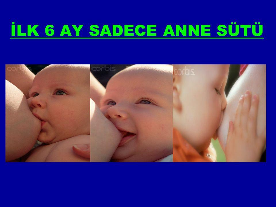 İLK 6 AY SADECE ANNE SÜTÜ