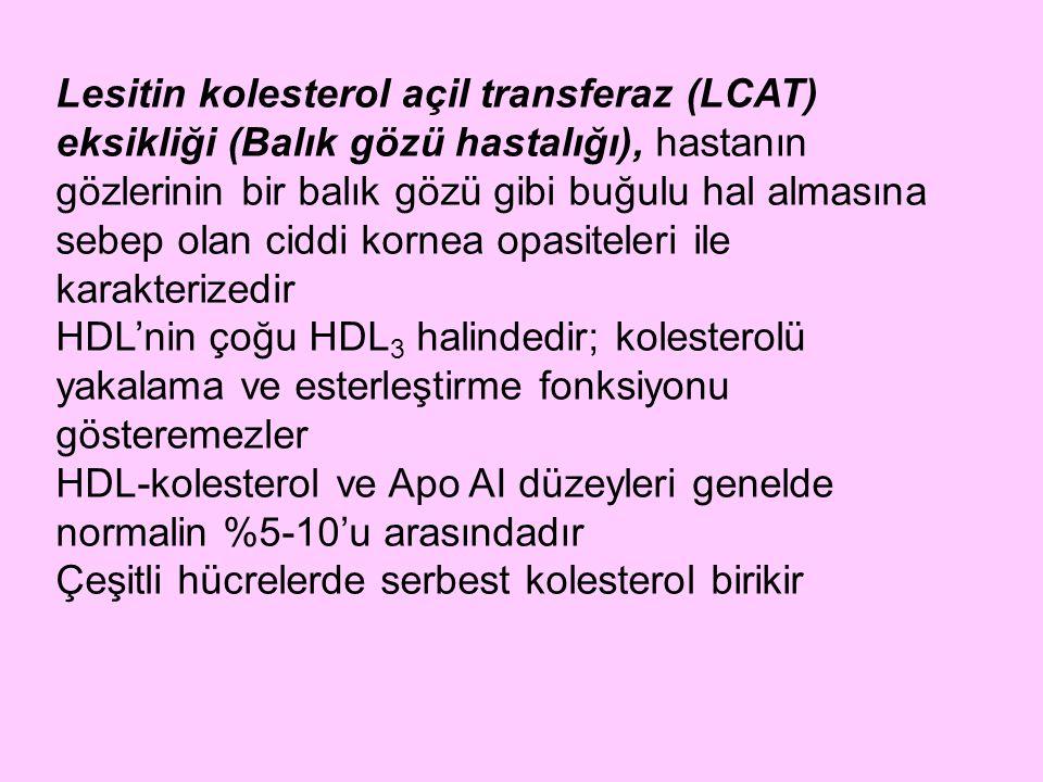 Lesitin kolesterol açil transferaz (LCAT) eksikliği (Balık gözü hastalığı), hastanın gözlerinin bir balık gözü gibi buğulu hal almasına sebep olan cid