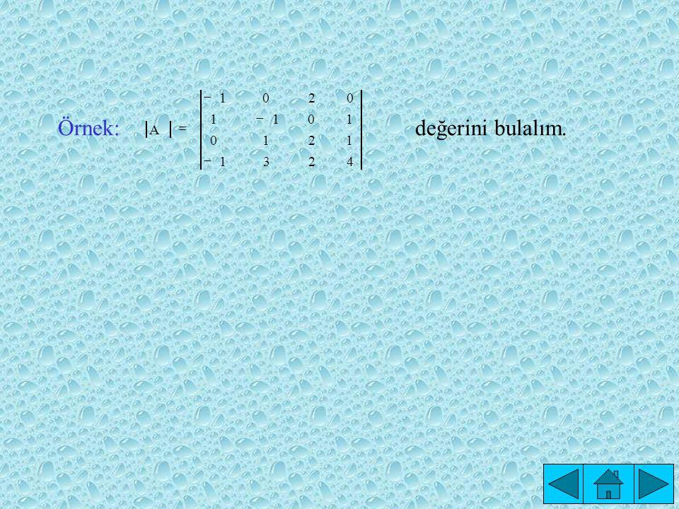 DETERMİNANT FONKSİYONU Tanım: n.Mertebeden kare matrislerin kümesi M n olsun.