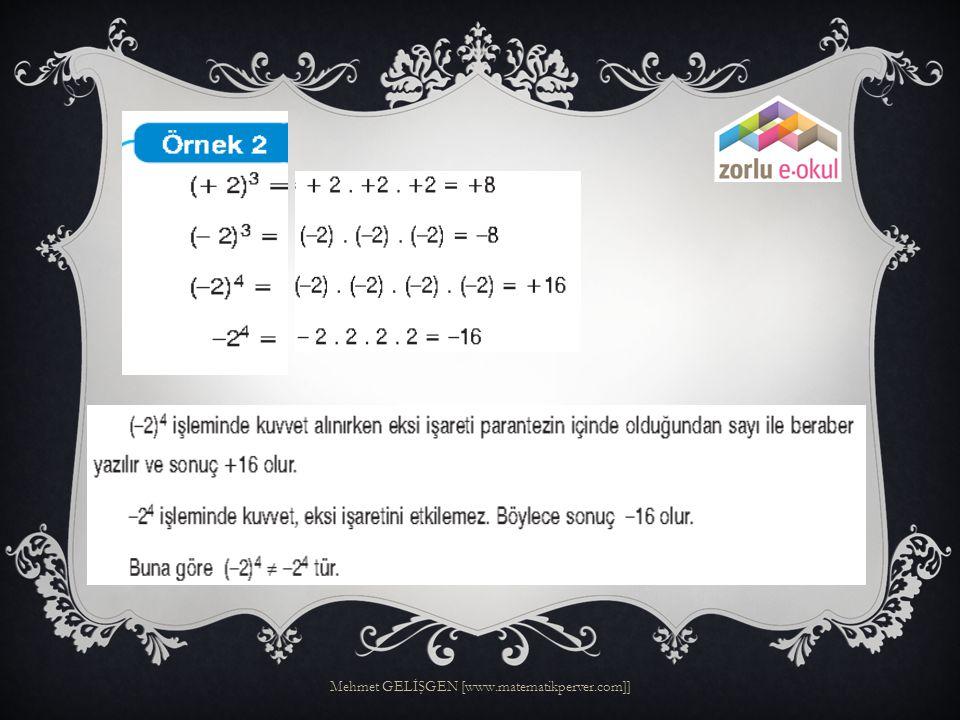  Mehmet GELİŞGEN  Matematik Öğretmeni Mehmet GELİŞGEN [www.matematikperver.com]] 2.BÖLÜM