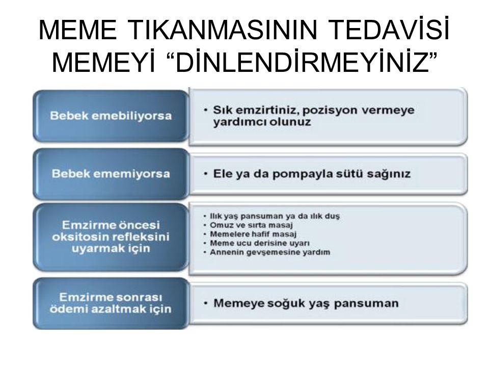 """MEME TIKANMASININ TEDAVİSİ MEMEYİ """"DİNLENDİRMEYİNİZ"""""""