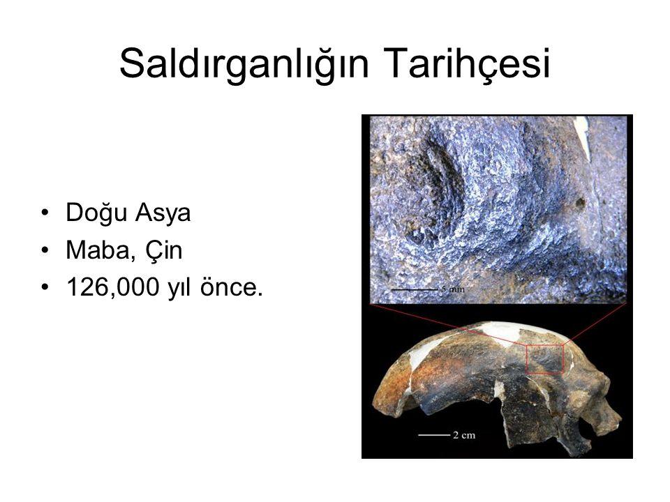 Saldırganlığın Tarihçesi Doğu Asya Maba, Çin 126,000 yıl önce.