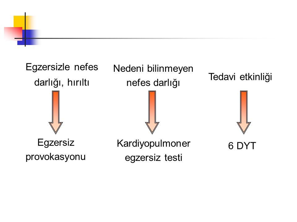 KPET önemli parametreler Anaerobik eşik Solunum rezervi (L/dk) End-Tidal pCO 2 Heart rate reserve (HRR) ∆VO 2 /∆WR O 2 pulse (VO 2 / HR) Oksijen kullanımı ( Oksijen tüketimi = VO 2 ) VO 2 max Incremental exercise test (Basamaklı olarak artan test protokolü)