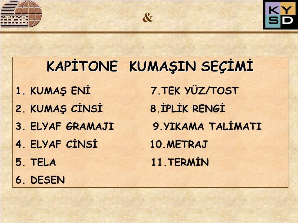 & TELA SEÇERKEN NELERE DİKKAT ETMELİ.1.