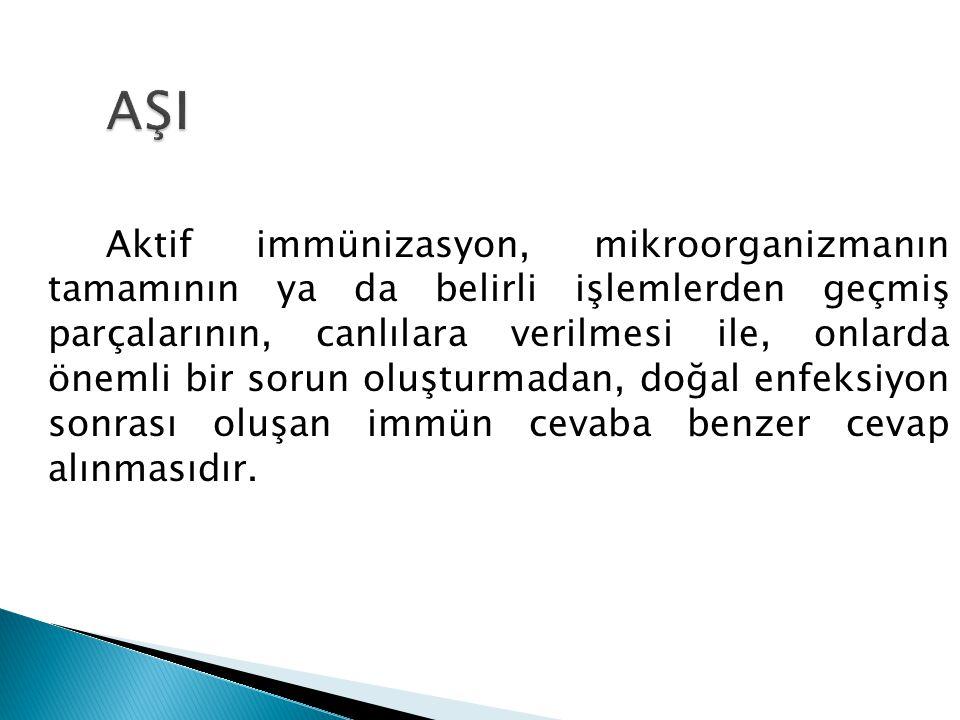 Canlı aşı : 2.