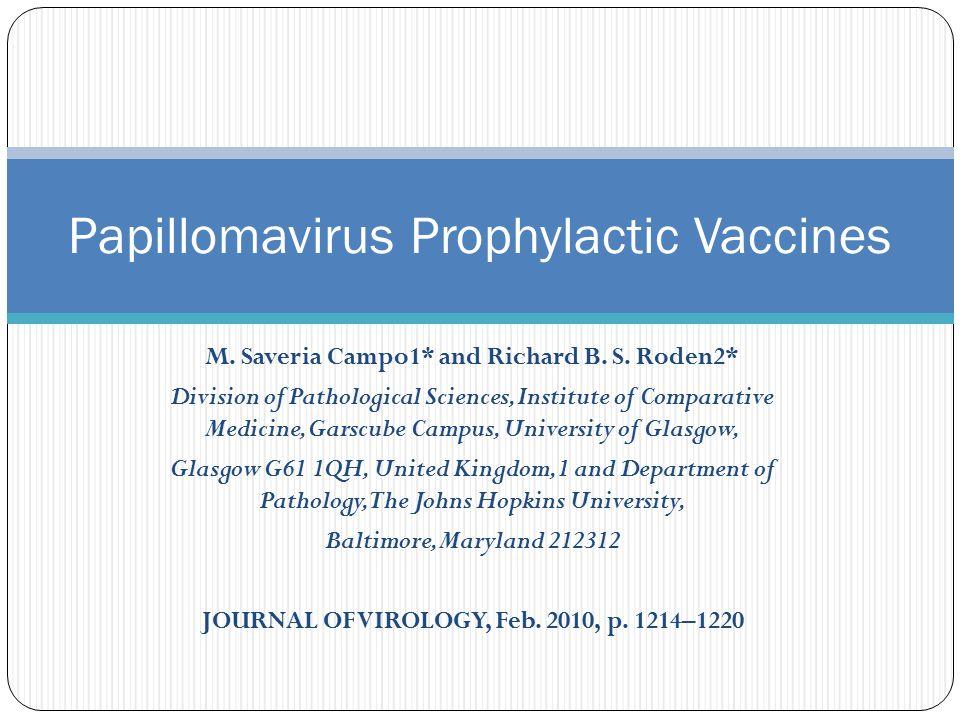 M. Saveria Campo1* and Richard B. S.
