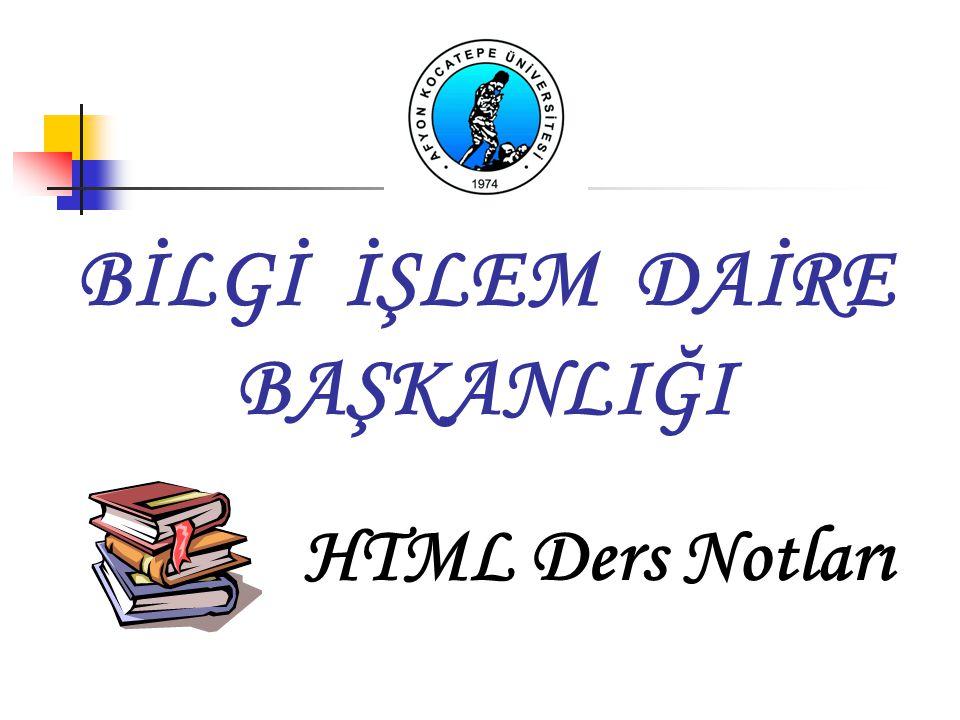 HTML NEDİR.