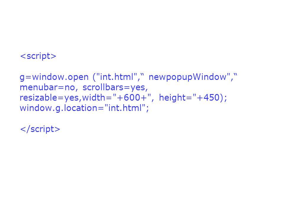 g=window.open (