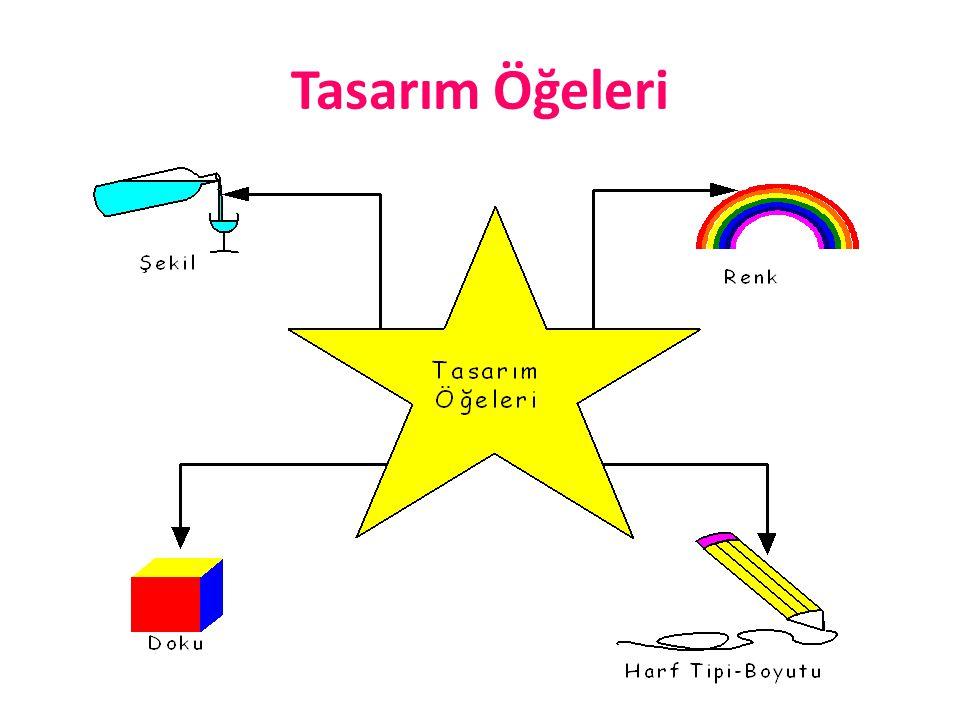 Renk En çok 4 renk kullanılmalıdır.En çok 4 renk kullanılmalıdır.