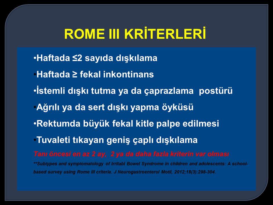 ROME III KRİTERLERİ