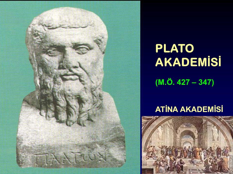 PLATO AKADEM İ S İ (M.Ö. 427 – 347) ATİNA AKADEMİSİ