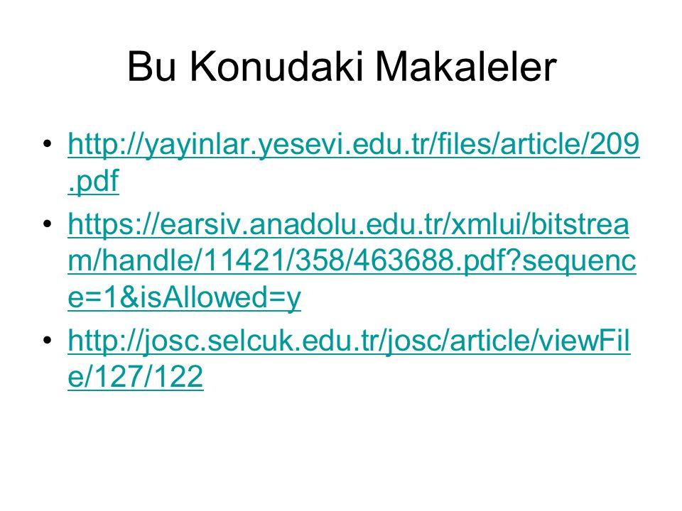 Bu Konudaki Makaleler http://yayinlar.yesevi.edu.tr/files/article/209.pdfhttp://yayinlar.yesevi.edu.tr/files/article/209.pdf https://earsiv.anadolu.ed