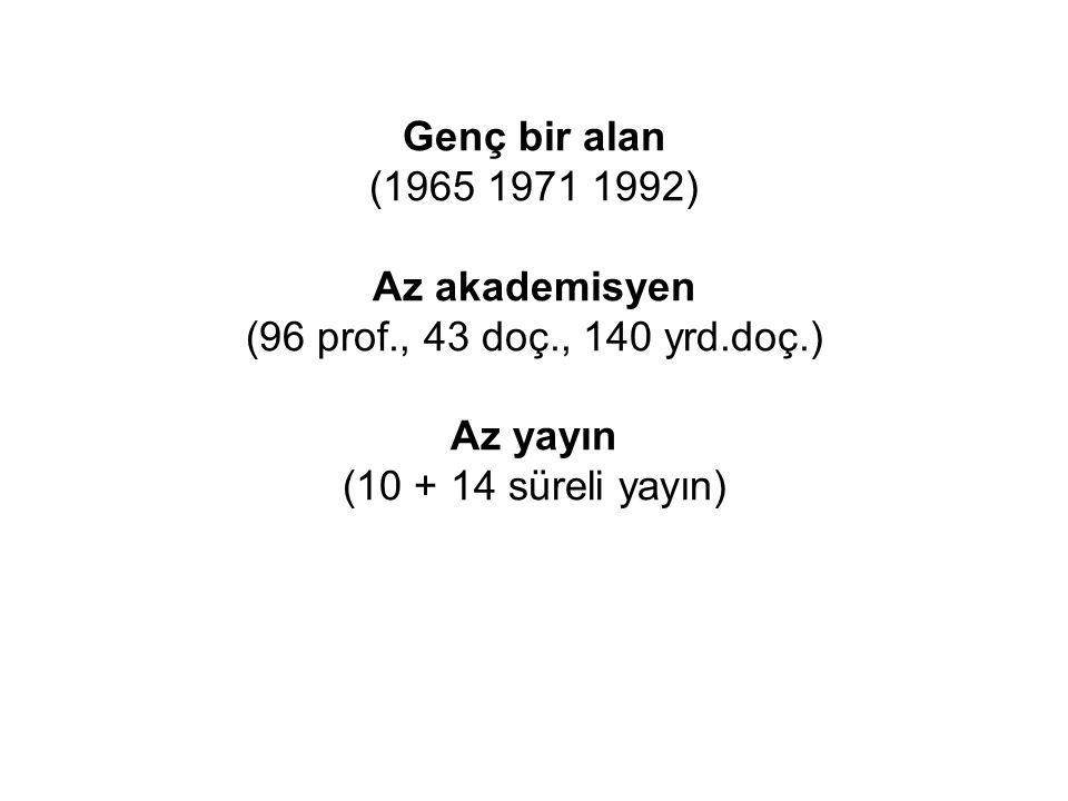 1.Grup dergiler: Gazi İletişim Kültür ve İletişim Kİ (Ankara) 2.