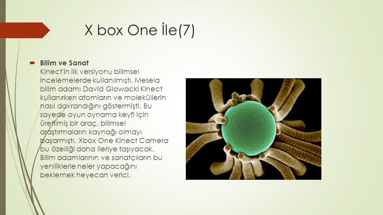 X box One İle(7)  Bilim ve Sanat Kinect'in ilk versiyonu bilimsel incelemelerde kullanılmıştı. Mesela bilim adamı David Glowacki Kinect kullanırken a