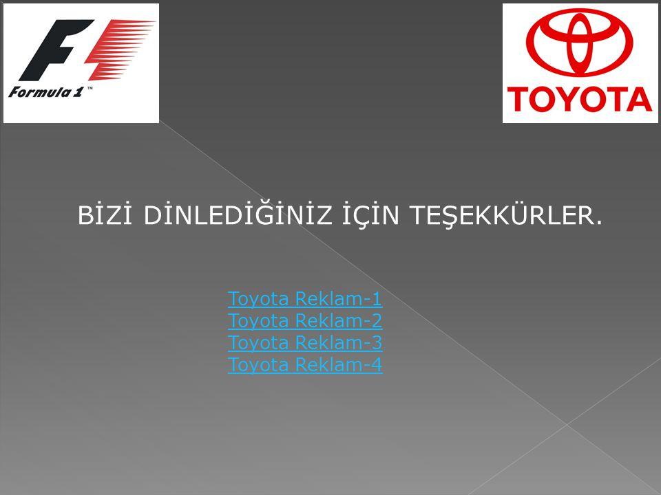 BİZİ DİNLEDİĞİNİZ İÇİN TEŞEKKÜRLER. Toyota Reklam-1 Toyota Reklam-2 Toyota Reklam-3 Toyota Reklam-4
