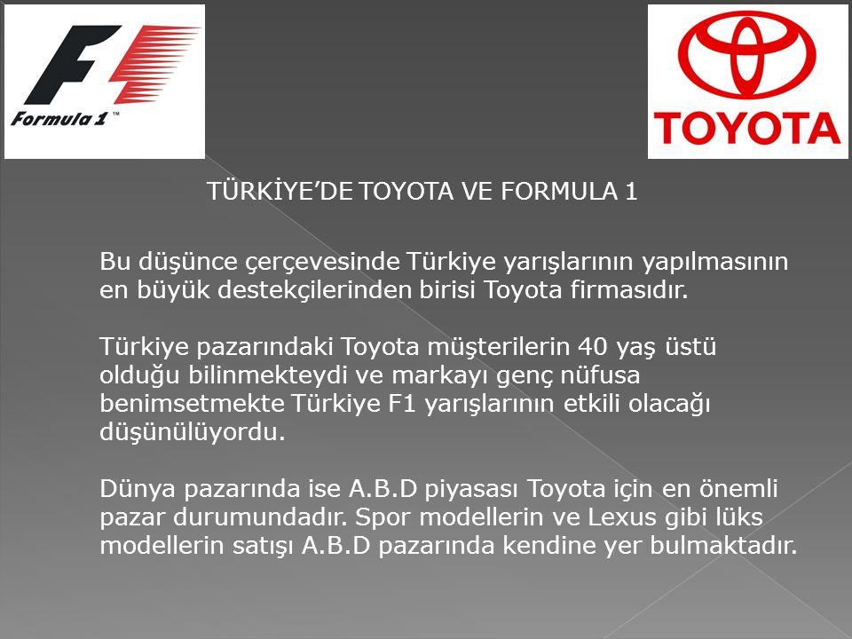 Bu düşünce çerçevesinde Türkiye yarışlarının yapılmasının en büyük destekçilerinden birisi Toyota firmasıdır. Türkiye pazarındaki Toyota müşterilerin