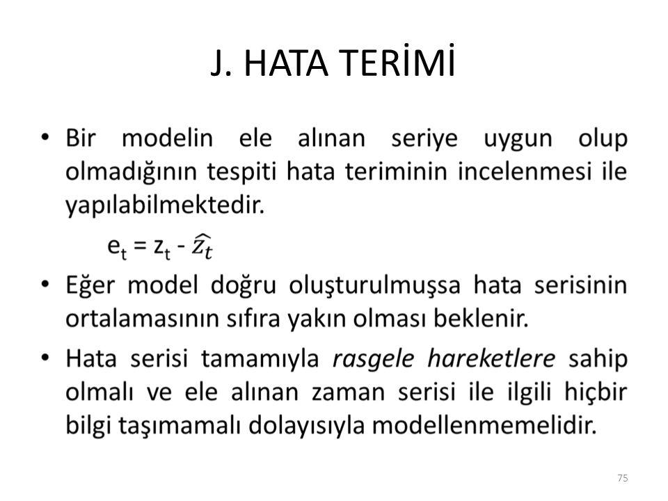 J. HATA TERİMİ 75