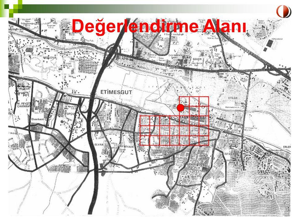 LIFE Projesi-Eğitim Semineri ODTÜ, 1-2 Nisan 2004 Ankara22 Değerlendirme Alanı