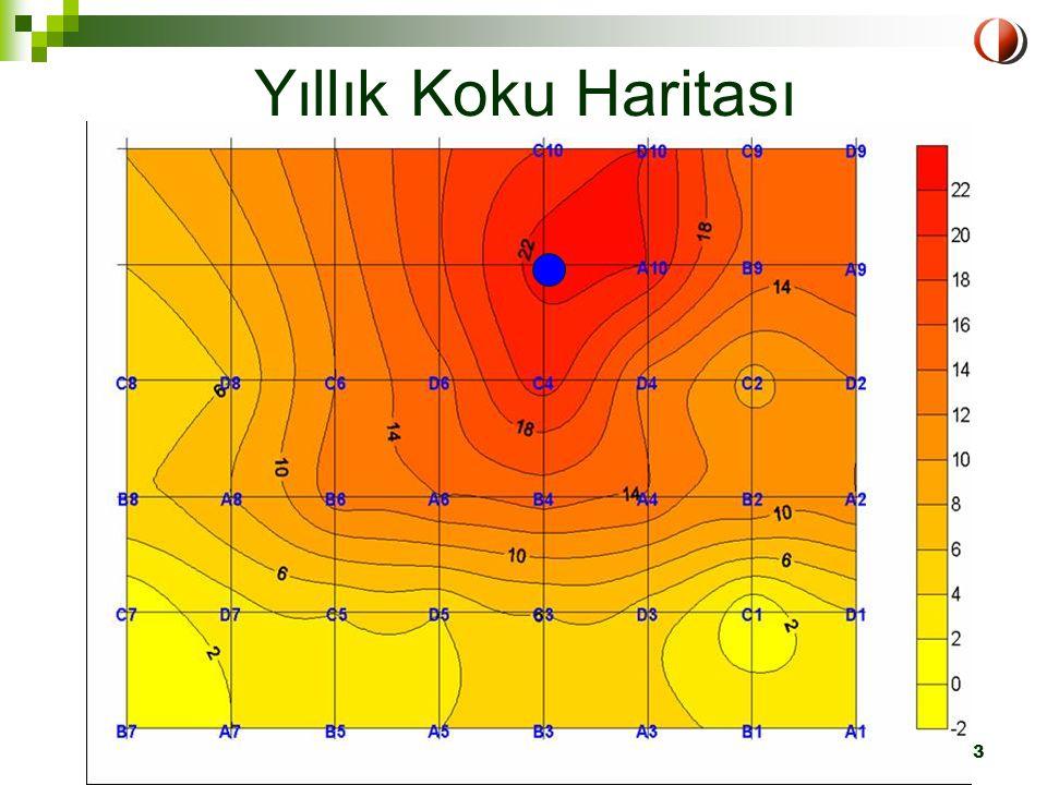 LIFE Projesi-Eğitim Semineri ODTÜ, 1-2 Nisan 2004 Ankara23 Yıllık Koku Haritası