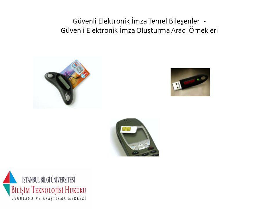 Güvenli Elektronik İmza Temel Bileşenler - Güvenli Elektronik İmza Oluşturma Aracı Örnekleri