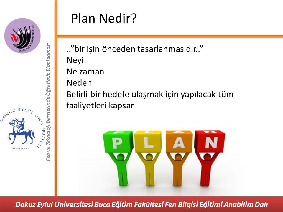 """Fen ve Teknoloji Derslerinde Öğretimin Planlanması Plan Nedir?..""""bir işin önceden tasarlanmasıdır.."""" Neyi Ne zaman Neden Belirli bir hedefe ulaşmak iç"""
