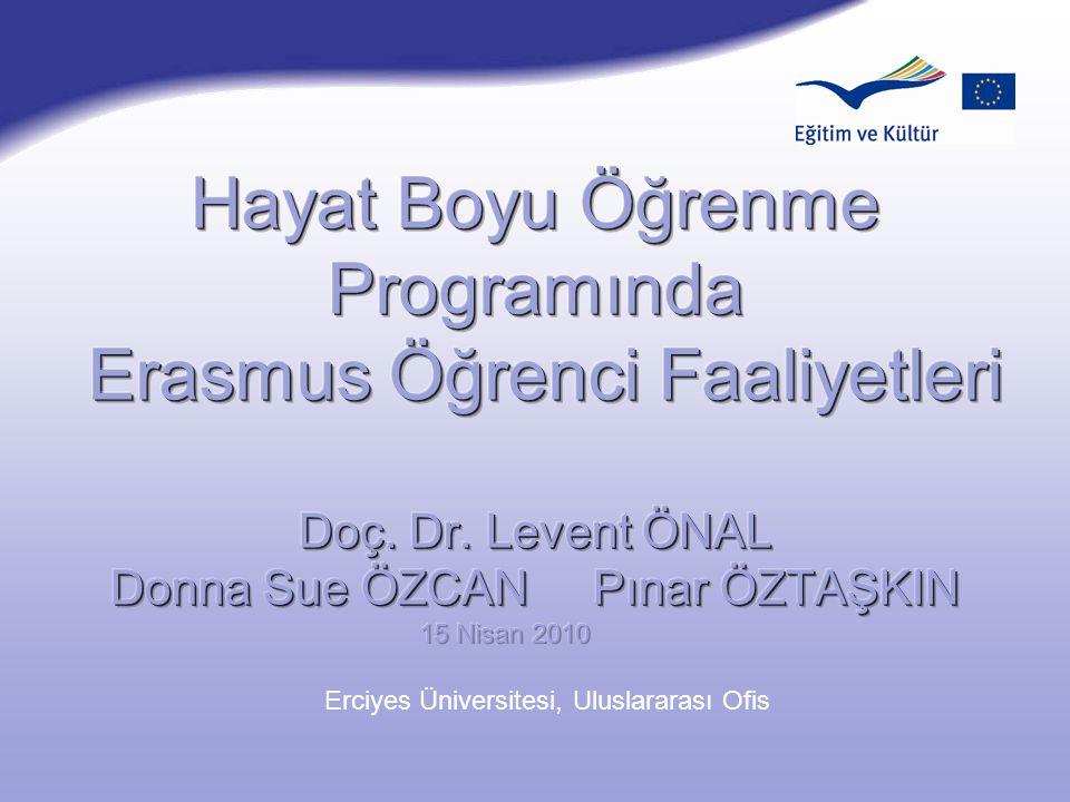 Şubat 2007 Erciyes Üniversitesi, Uluslararası Ofis
