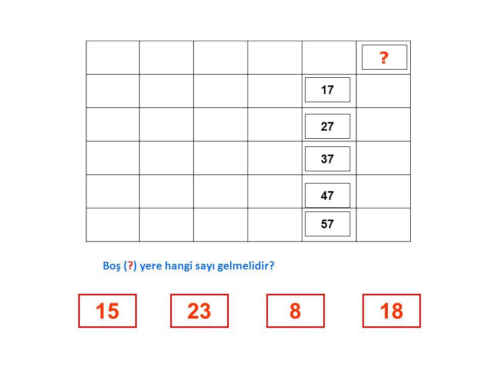 71 81 727374 848382 ? 25619962 Boş (?) yere hangi sayı gelmelidir?