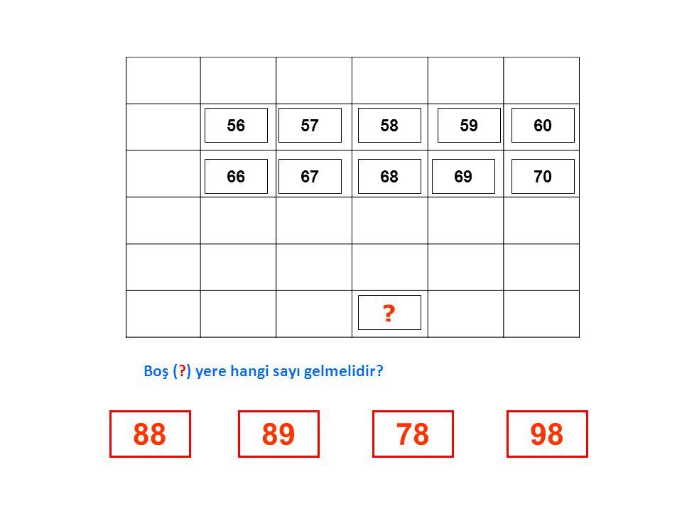 57 17 27 37 47 1523818 Boş ( ) yere hangi sayı gelmelidir