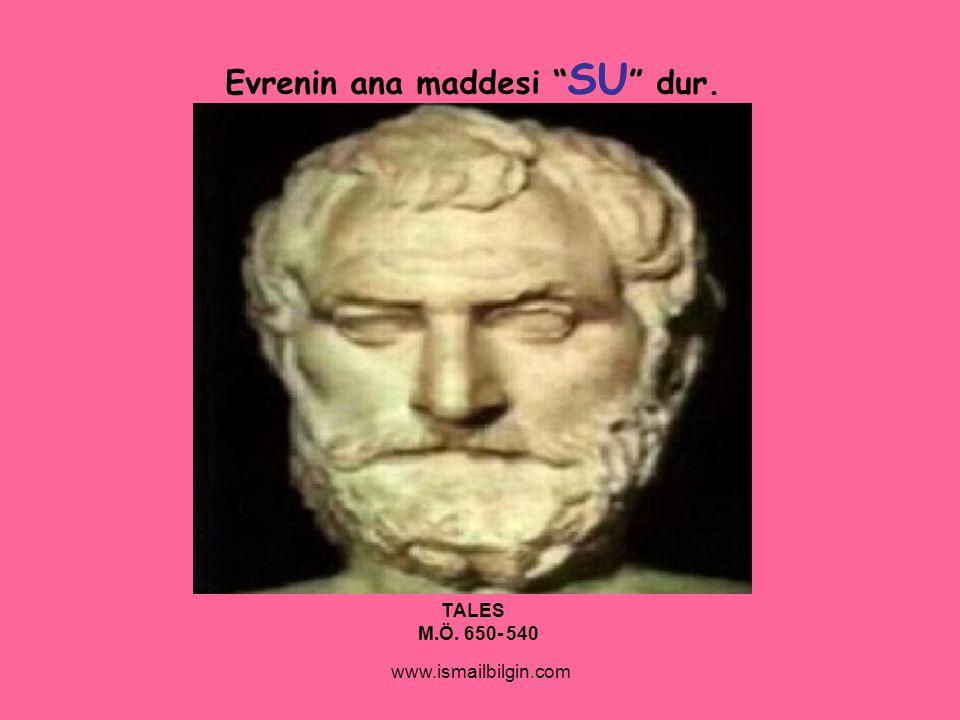 "www.ismailbilgin.com Evrenin ana maddesi "" SU "" dur. TALES M.Ö. 650- 540"