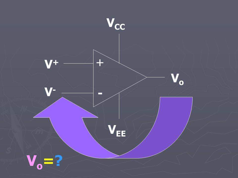 + - V CC V EE VoVo V + V - Vo=?Vo=?