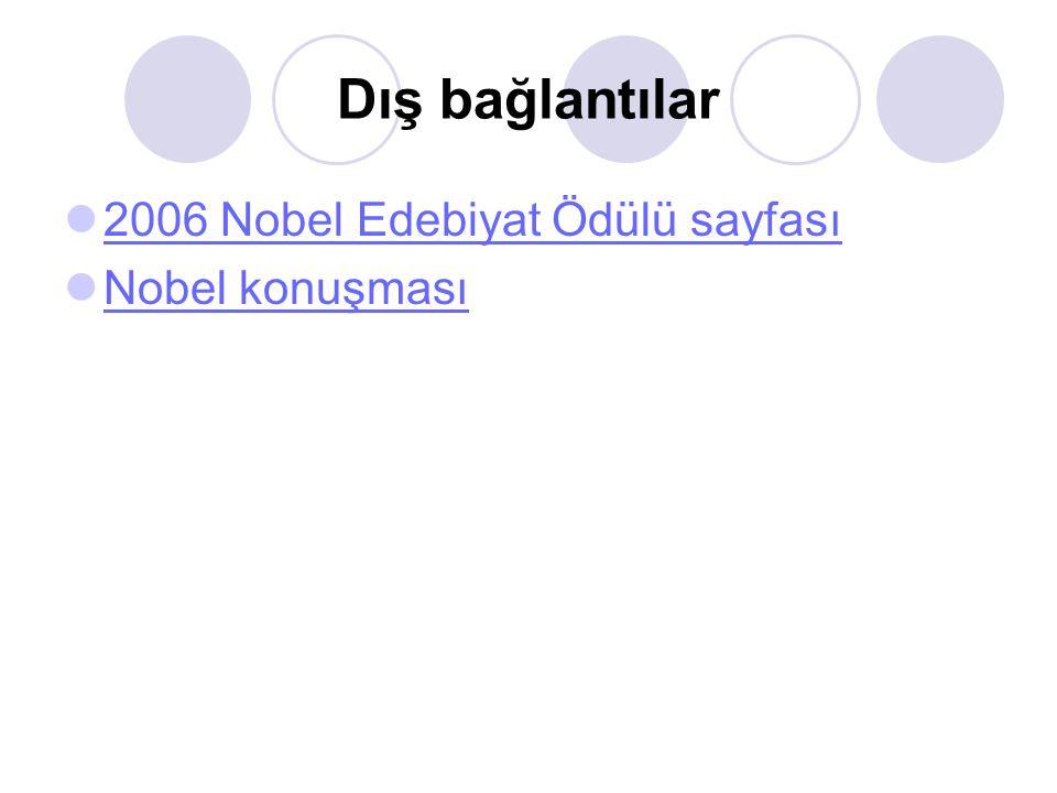Dış bağlantılar 2006 Nobel Edebiyat Ödülü sayfası Nobel konuşması