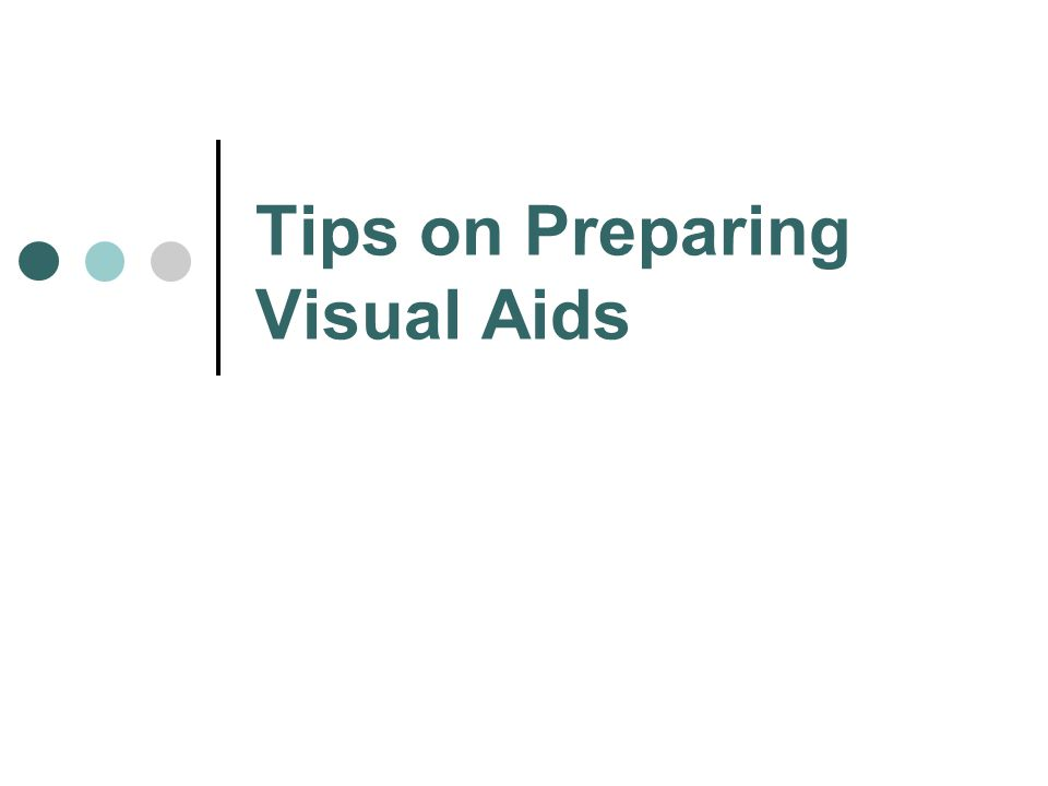 Visual Aids - Examples PowerPoint Slides Overhead Transparencies Graphs/Charts Pictures Films/Video Flip Charts Sketches