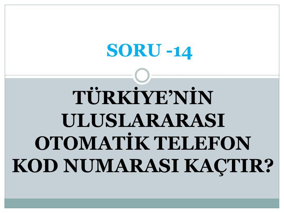 KUDÜS CEVAP -13