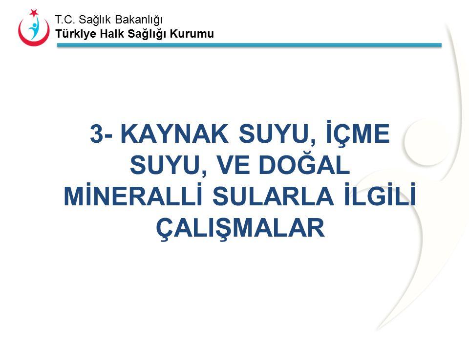 T.C. Sağlık Bakanlığı Türkiye Halk Sağlığı Kurumu Tablo 2.5. İçme-kullanma suyu 2014 yılı depo uygunsuzluk yönetimi çalışmaları. (İlçelerin tamamını y