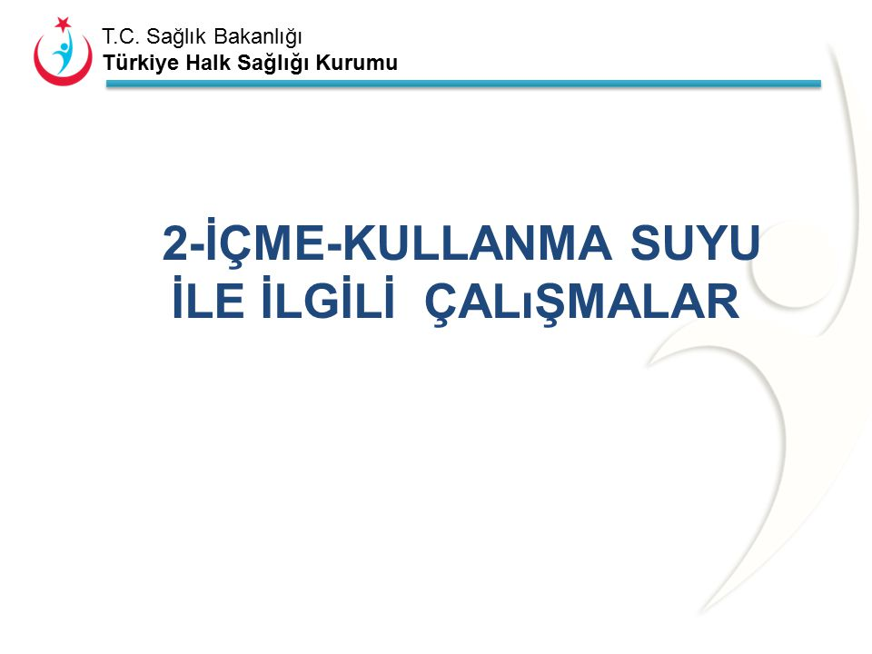 T.C. Sağlık Bakanlığı Türkiye Halk Sağlığı Kurumu Tablo 1. …..ili Çevre Sağlığı Şubesi 2014 yılı yıl ortası personel durumu. (İlçelerinizin tamamını y