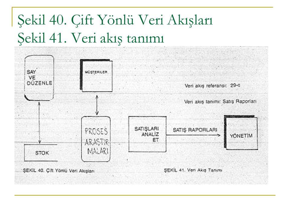 Şekil 40. Çift Yönlü Veri Akışları Şekil 41. Veri akış tanımı