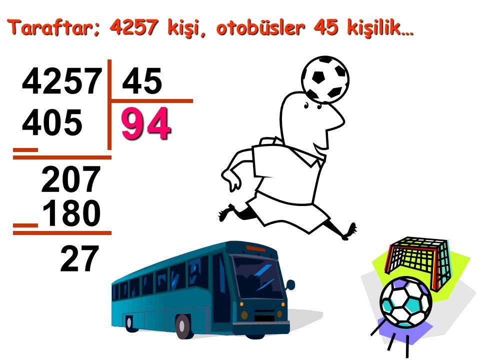Taraftar; 4257 kişi, otobüsler 45 kişilik… 425745 405 207 180 27 94