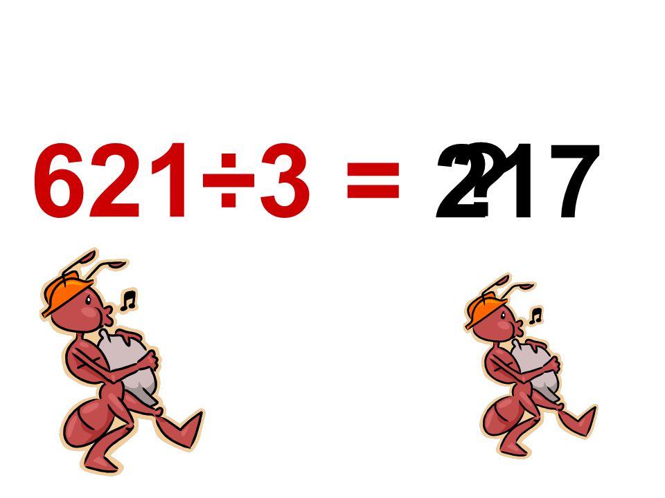 621÷3 = 217 ?