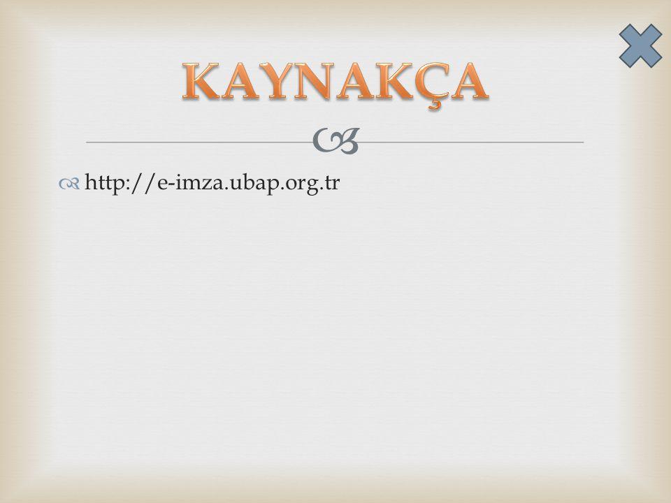   http://e-imza.ubap.org.tr