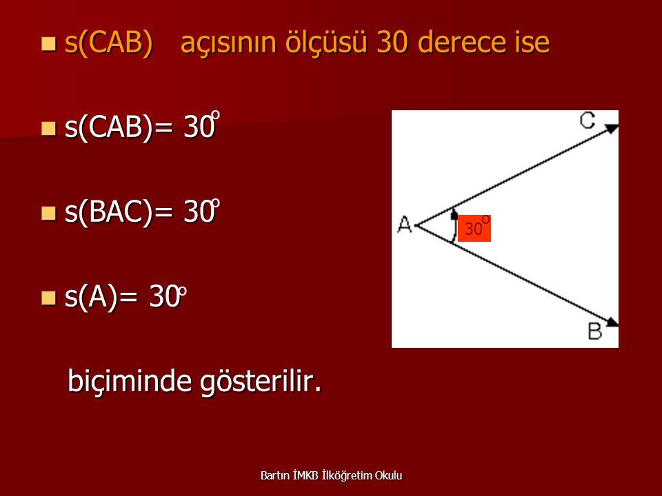 Örnek 6 : Örnek 6 : A D C B 2k 4k AB bir doğru ise açılardaki kat ilişkilerine göre s(DOC) kaç derecedir.