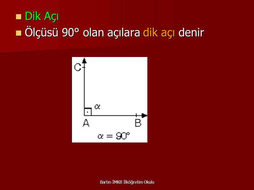 Geniş Açı Geniş Açı Ölçüsü 90° ile 180° arasında olan açılara geniş açı denir.