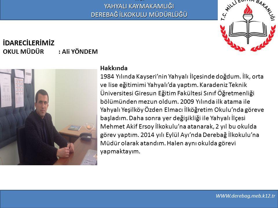 Hakkında 1984 Yılında Kayseri'nin Yahyalı İlçesinde doğdum. İlk, orta ve lise eğitimimi Yahyalı'da yaptım. Karadeniz Teknik Üniversitesi Giresun Eğiti