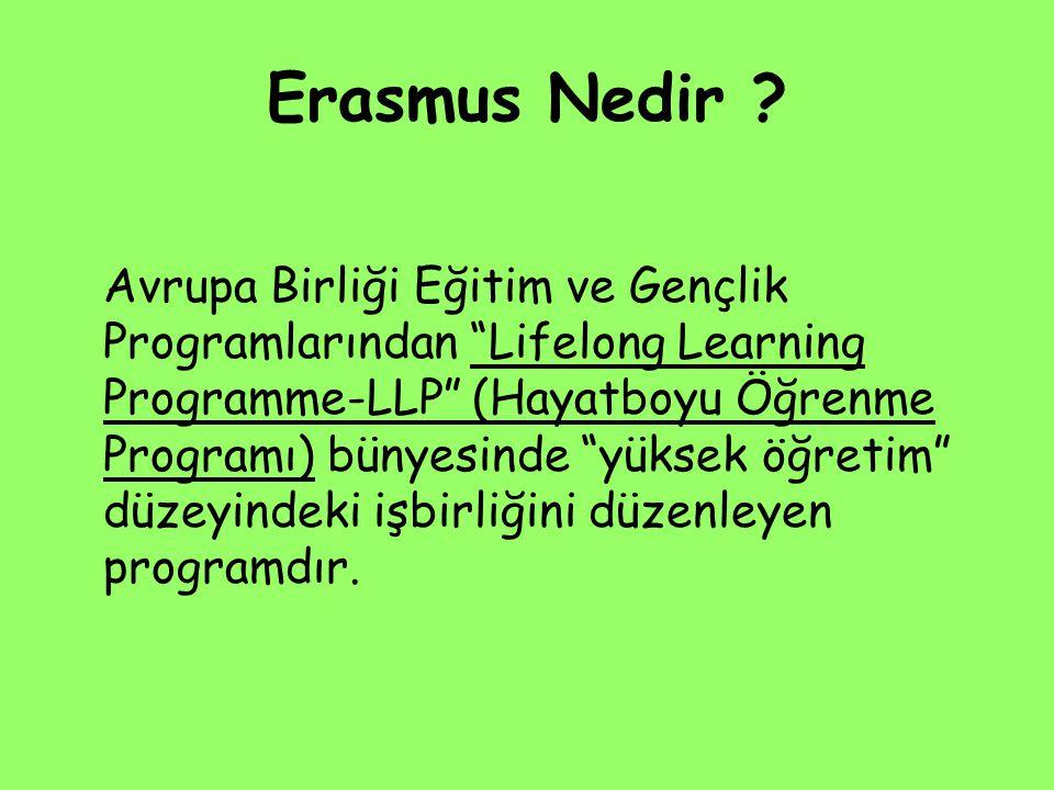 """Erasmus Nedir ? Avrupa Birliği Eğitim ve Gençlik Programlarından """"Lifelong Learning Programme-LLP"""" (Hayatboyu Öğrenme Programı) bünyesinde """"yüksek öğr"""