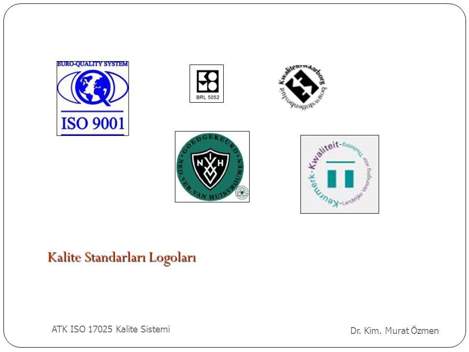 Kurulu ş Kalite Sistemi Doküman Kontrolü Satınalma Mü ş teriye Hizmet Ş ikayetler Uygunsuz İş lerin Kontrolü Düzeltici Faaliyetler Önleyici Faaliyetler Kayıtların Kontrolü İ ç Denetimler Yönetimin Gözden Geçirmesi ISO 17025 (Bölüm 4) Dr.