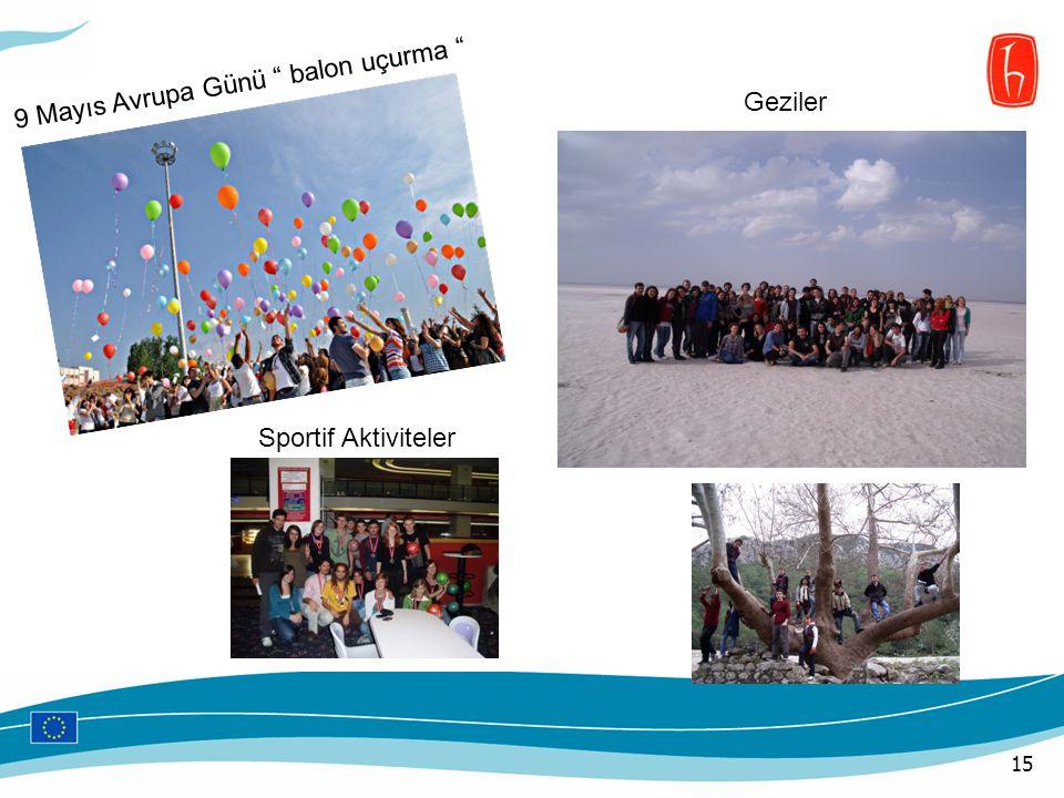 """15 9 Mayıs Avrupa Günü """" balon uçurma """" Geziler Sportif Aktiviteler"""