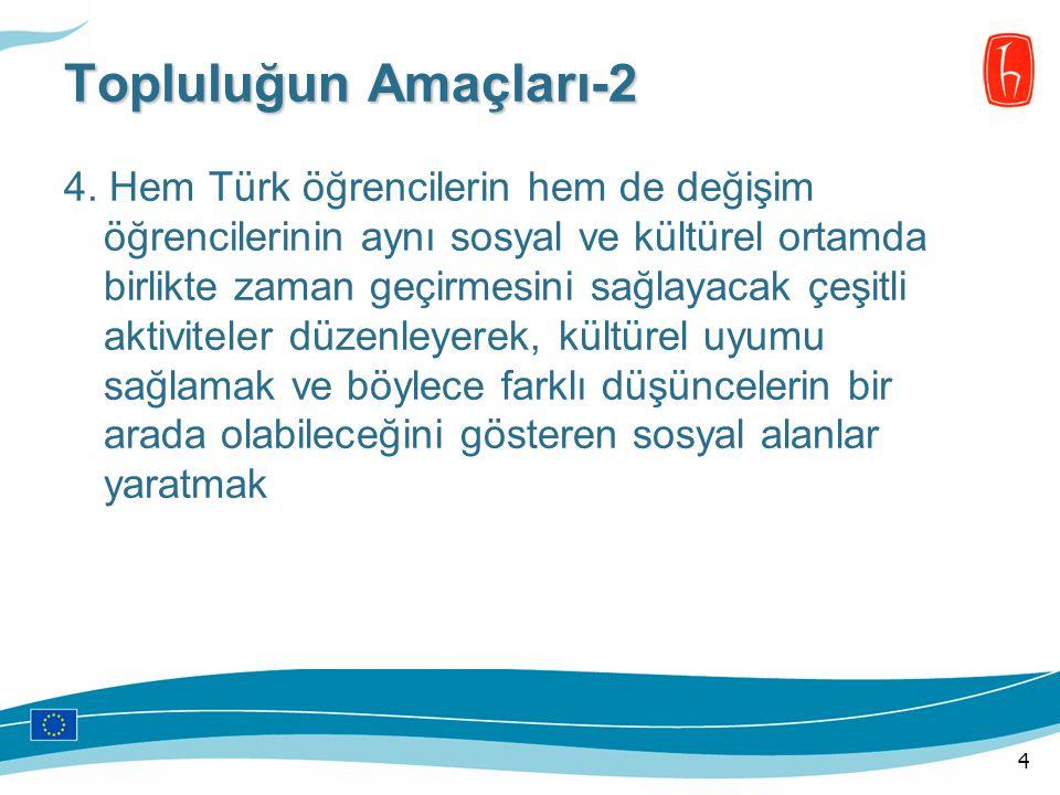 4. Hem Türk öğrencilerin hem de değişim öğrencilerinin aynı sosyal ve kültürel ortamda birlikte zaman geçirmesini sağlayacak çeşitli aktiviteler düzen